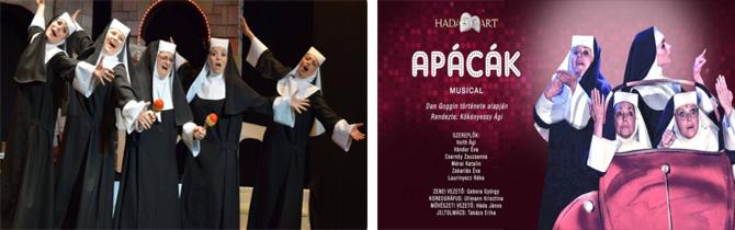 Apácák, Musical jegy, Musical, komédia, vígjáték, PMK, Szentendre, kupon, akciós jegy, előadás, színházjegy,
