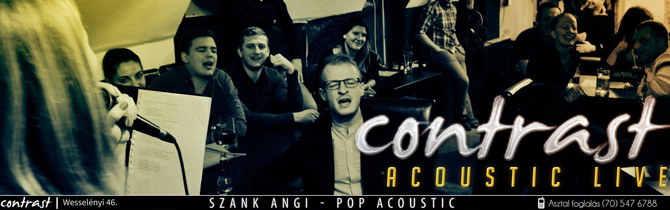 Contrast Bar, akusztik est, acoustic live, élő zene, akció
