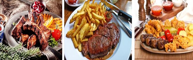bőségtál, étterem, vacsora, csevapcsicsa, steak burgonya, ajvár szósz, 2 személyes, kaja, kajcsi, ebéd, szentendre,