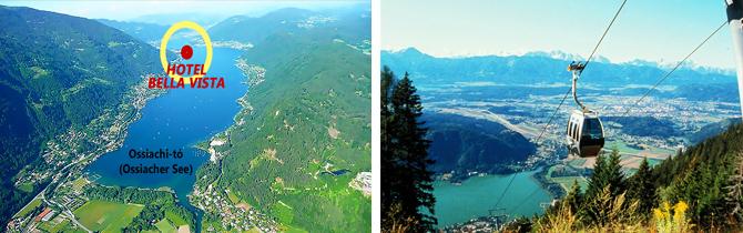 Alpok, Bella Vista Hotel, nyaralás, üdülés, ausztria, ossiachi tó, kupon, akció
